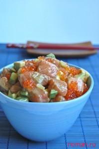 Салат из лосося
