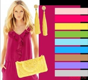 Подбор одежды по цвету для худых.