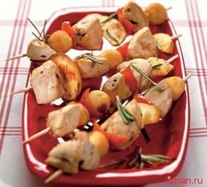 шашлык куриный с картофелем