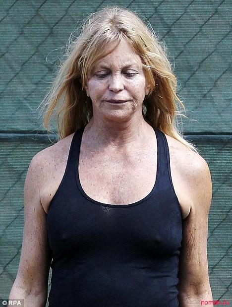 Голди Хоун на пробежке