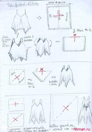 Шьем летнюю блузку быстро и просто