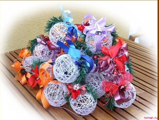 Делаем украшения для елки своими руками - новогодние шары!