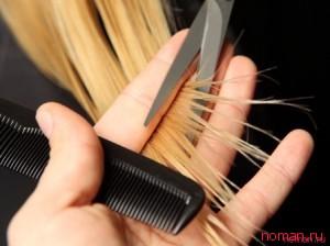 Лечим секущиеся кончики волос