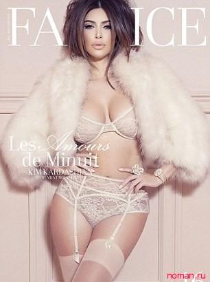 Ким Кардашьян для французского журнала Factice