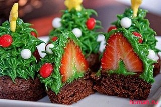 Новогодние елочки - десерт
