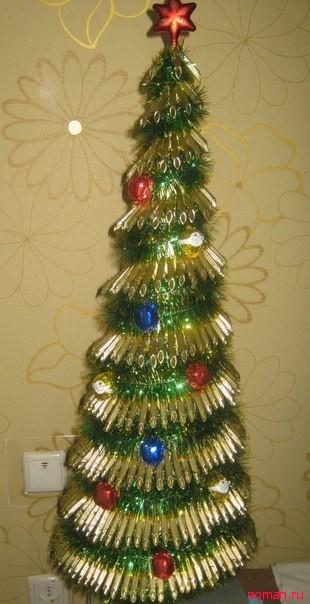 елка из макарон