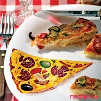 """Роспись тарелки """"Пицца"""""""