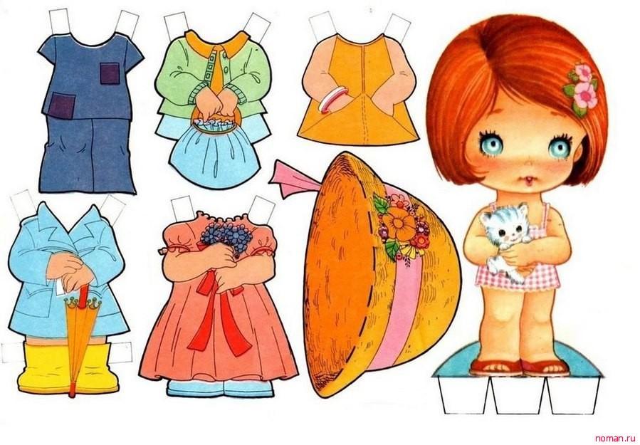 Бумажные куколки для девочек