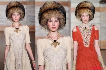 Как сочетать украшения с меховыми шапками