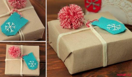 Упаковка для подарка на Новый год!