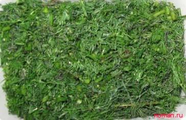 Заготавливаемым зелень на зиму