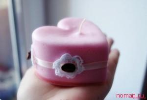 Зефирная свеча в подарок любимым