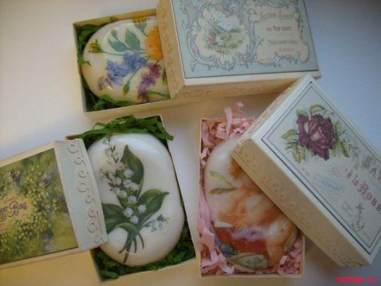 Декупаж на мыле – милый сувенир