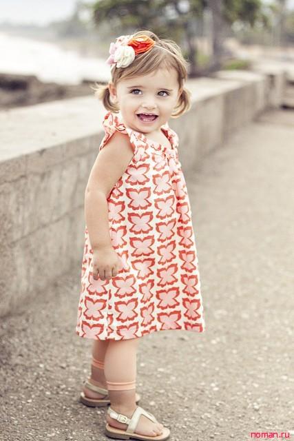 Летнее платье на девочку своими руками
