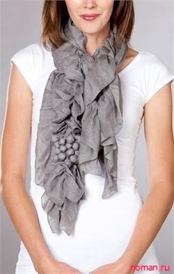 Шикарный и очень простой шарф своими руками