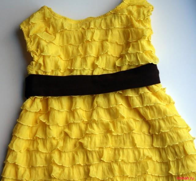 Летнее платье с воланами