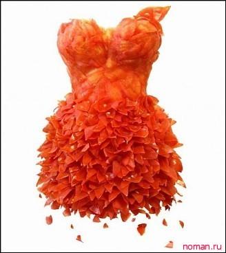 Платье из томатов
