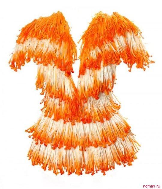 Платье из грибов