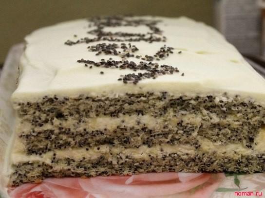 Маковый торт
