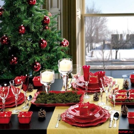 Как оформить стол к Рождеству