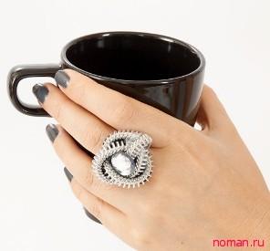 Кольцо из металлической молнии