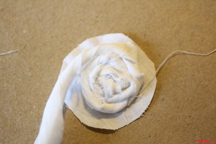 Розочки из ткани