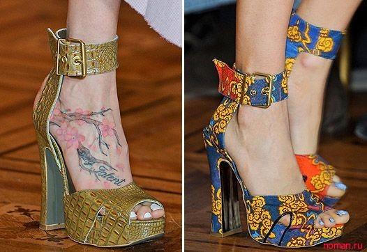 туфли с цветочным принтом