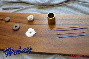 серьги из полимерной глины