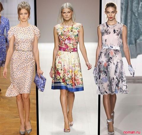 платья весны