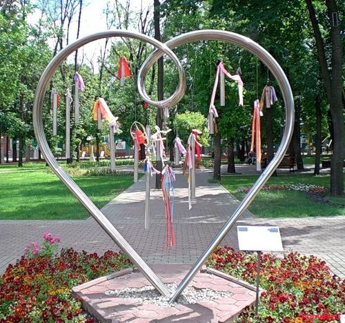 """""""Сердце"""" в саду Эрмитаж"""