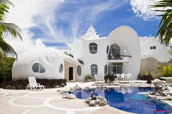 Дом- Ракушка, Мексика