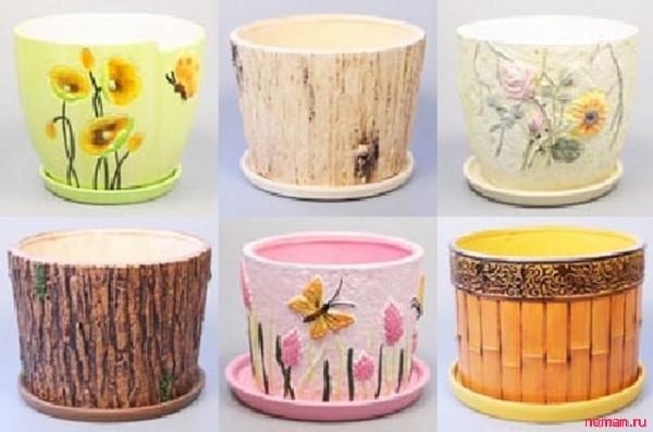 Дизайн горшков цветочных