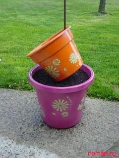 декор из цветочных горшков 10