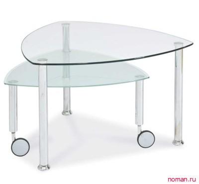 Журнальный столик из прозрачного пластика