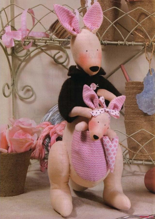 Выкройка куклы Кенгуру «Тильда»