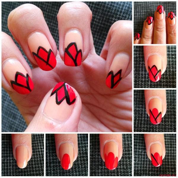 Рисунок на ногтях «Тюльпаны»
