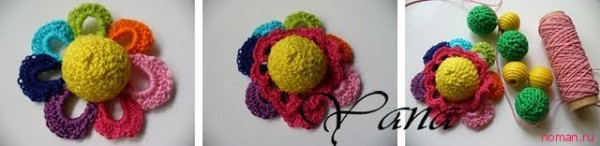 цветок из бусины